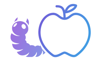 Digital Audit worm with apple graphic